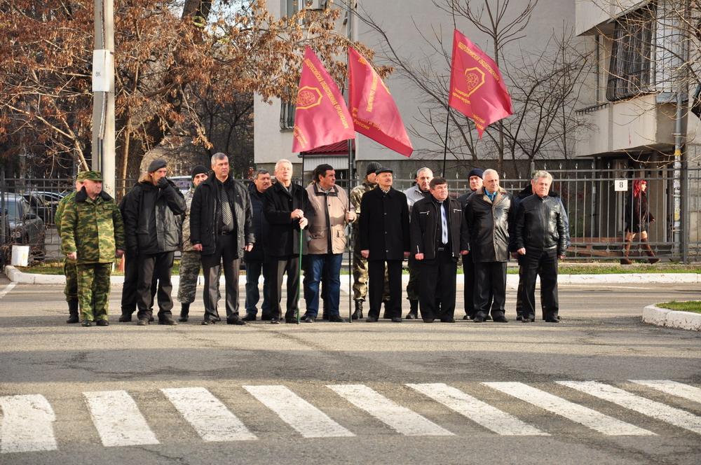 Высадка кедровой аллеи памяти в МВД Республики Крым, г.Симферополь