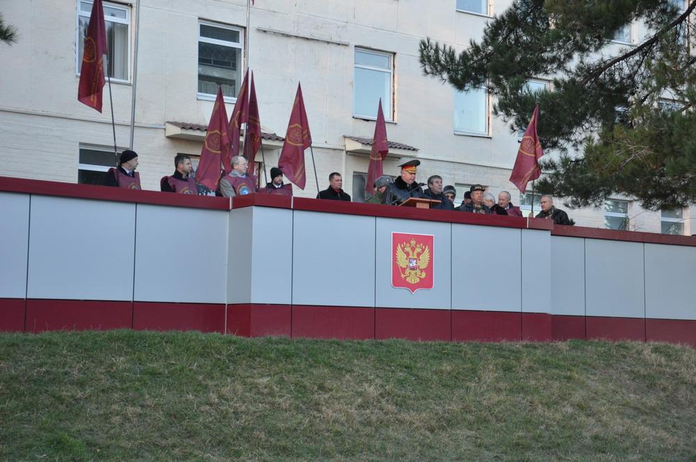 Высадка кедровой аллеи памяти в Отдельной бригаде ВВ МВД РФ, г.Симферополь