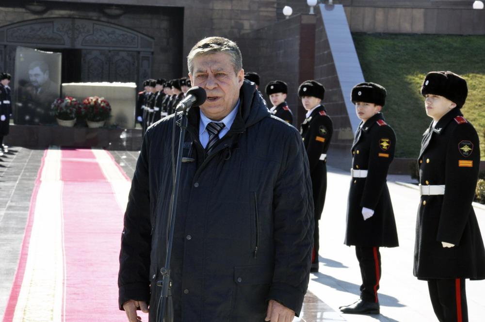Посадка аллеи памяти в Грозном