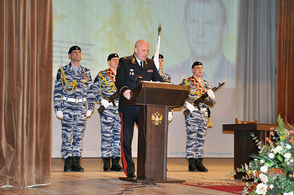 Торжественная церемония памятного гашения почтовой марки, посвящённой Герою Российской Федерации В.М. Адамишину